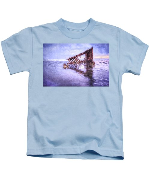 A Stormy Peter Iredale Kids T-Shirt
