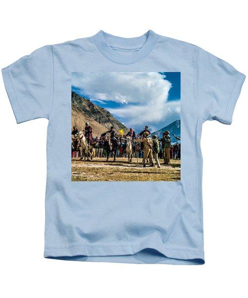 The Race, Zanskar, India Kids T-Shirt