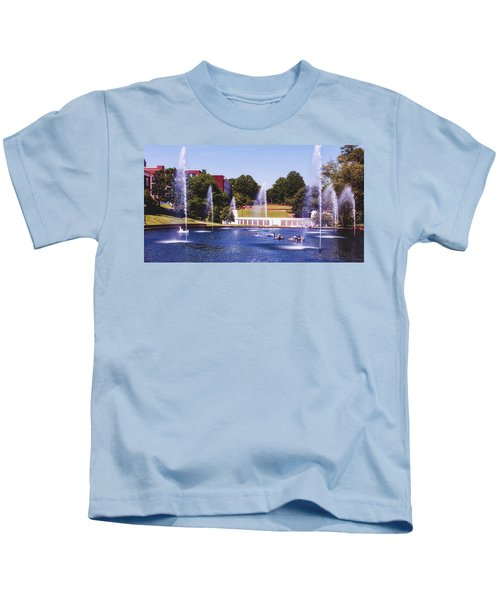 The Reflection Pond - Clemson University Kids T-Shirt