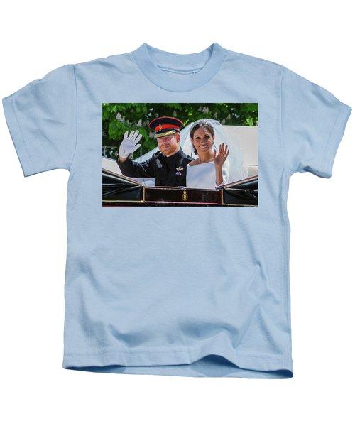 The Royal Wedding Of Prince Harry  To Meghan  Kids T-Shirt
