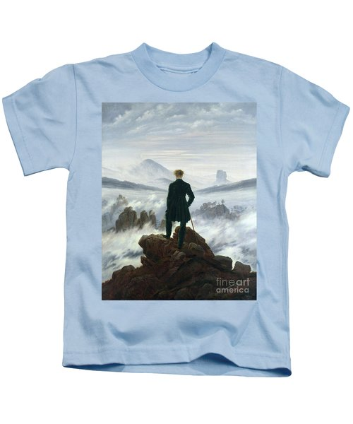 The Wanderer Above The Sea Of Fog Kids T-Shirt