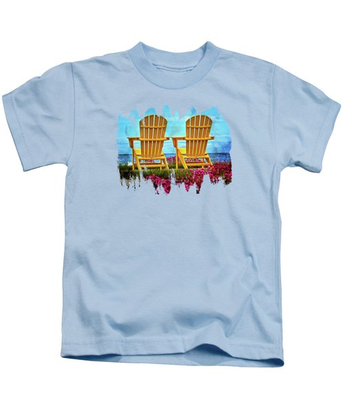 Relaxing By The Sea Kids T-Shirt