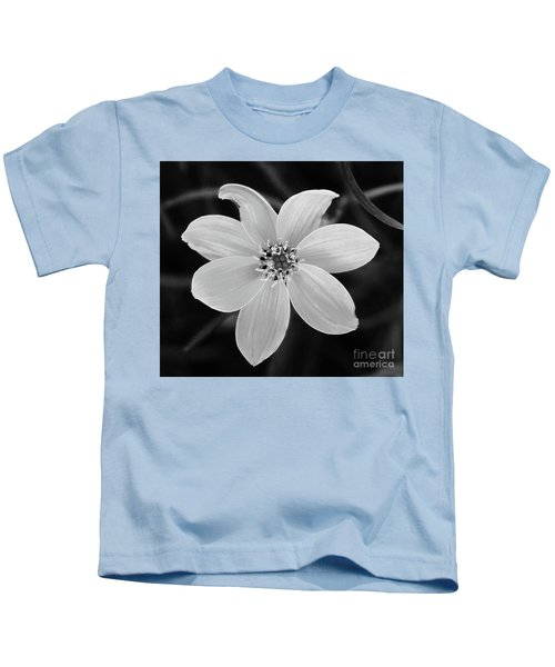 Threadleaf In Black And White Kids T-Shirt