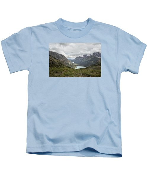 Three Lakes Viewed From Grinnell Glacier Kids T-Shirt