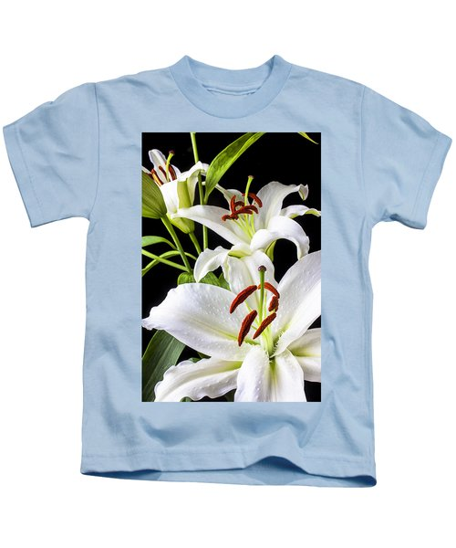 Three White Lilies Kids T-Shirt