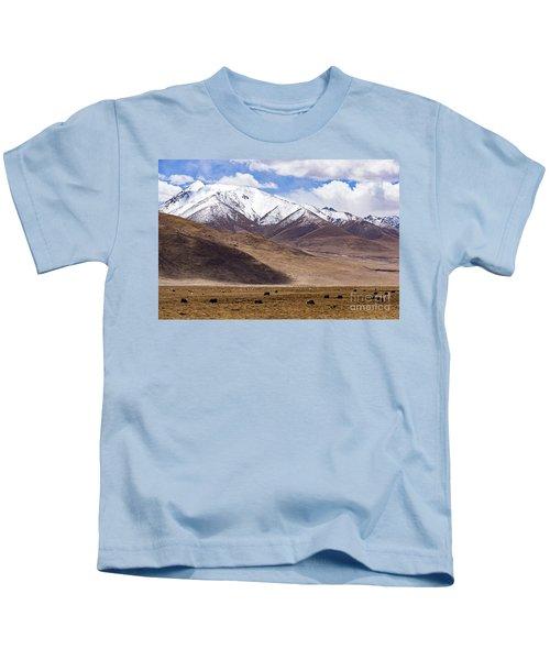 Tibetan Mountain Landscape #2 Kids T-Shirt