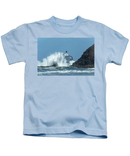 Tillamook Rock Light House, Oregon - Terrible Tilly Kids T-Shirt
