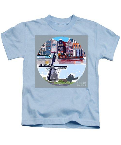 Tilting Windmills Kids T-Shirt