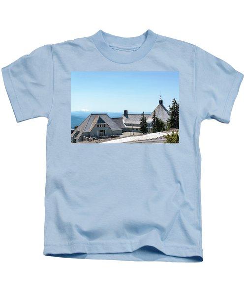 Timberline Lodge And Mt Jefferson Kids T-Shirt