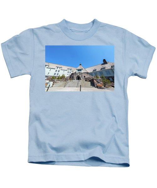 Timberline Lodge Entrance Kids T-Shirt