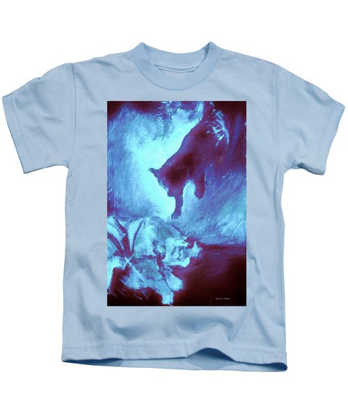 Tip Toeing On Little Cat Feet Kids T-Shirt