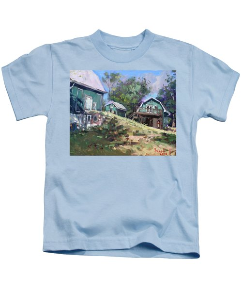 Today Morning At Carter Farms In Norval Kids T-Shirt