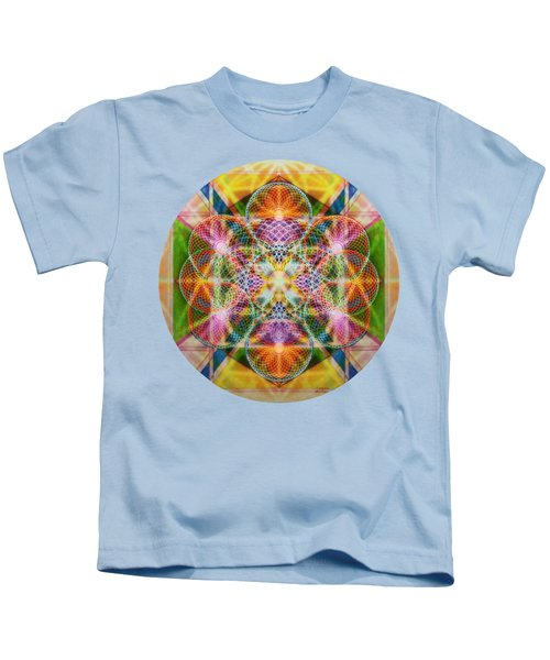 Torusphere Synthesis Bright Beginning Soulin I Kids T-Shirt by Christopher Pringer