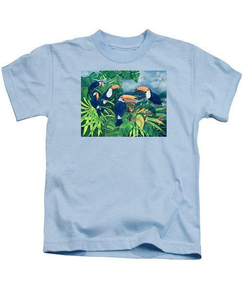 Toucan Talk Kids T-Shirt by Lisa Graa Jensen