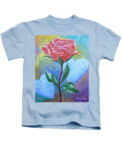 Touched By A Rose Kids T-Shirt
