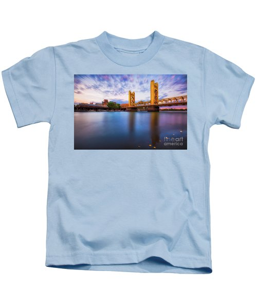 Tower Bridge Sacramento 3 Kids T-Shirt