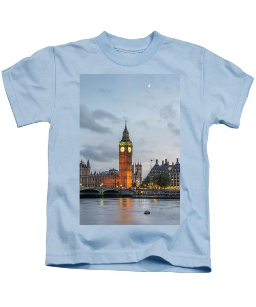 Tower Of London In The Moonlight Kids T-Shirt