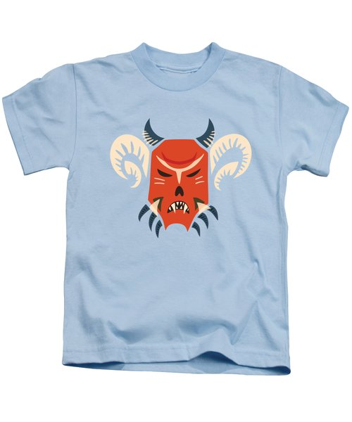 Traditional Bulgarian Evil Monster Kuker Mask Kids T-Shirt