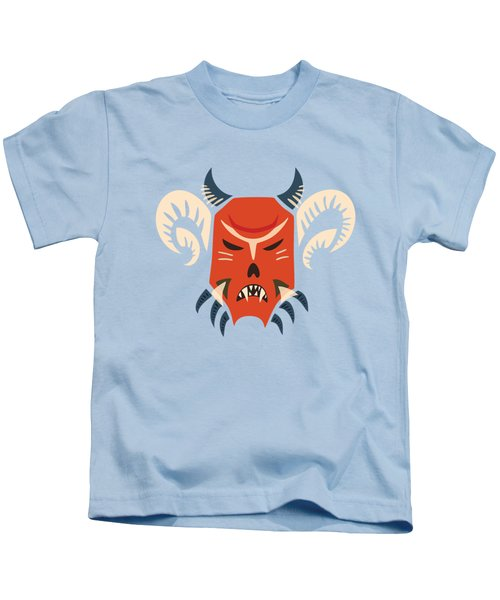 Traditional Bulgarian Evil Monster Kuker Mask Kids T-Shirt