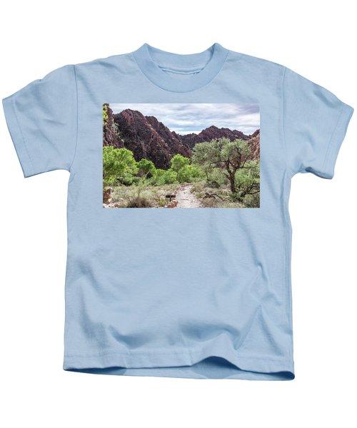 Trail Into Phantom Ranch, Grand Canyon Kids T-Shirt