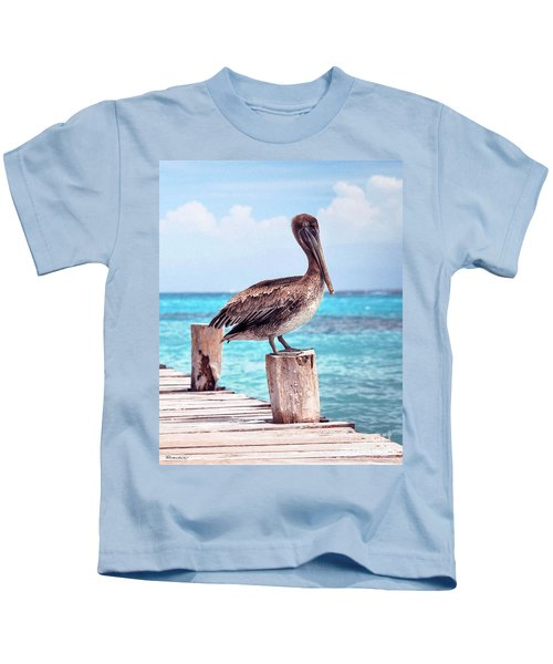 Treasure Coast Pelican Pier Seascape C1 Kids T-Shirt