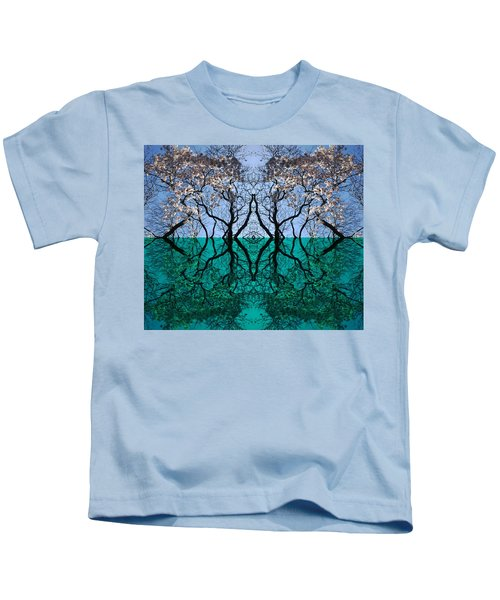Tree Gate Between Water And Sky Worlds Kids T-Shirt