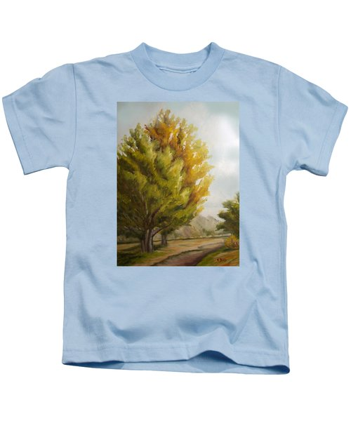 Trees In Boulder Kids T-Shirt
