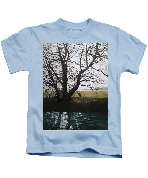Trent Side Tree. Kids T-Shirt
