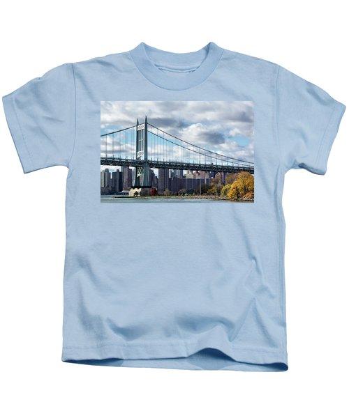Triboro Bridge In Autumn Kids T-Shirt