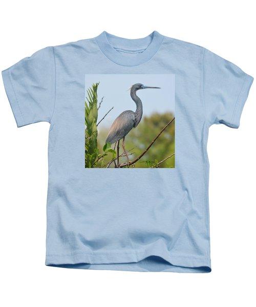 Tricolored Heron Kids T-Shirt