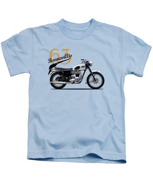 Triumph Bonneville 1963 Kids T-Shirt by Mark Rogan