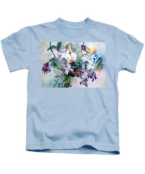 Tropical White Orchids Kids T-Shirt