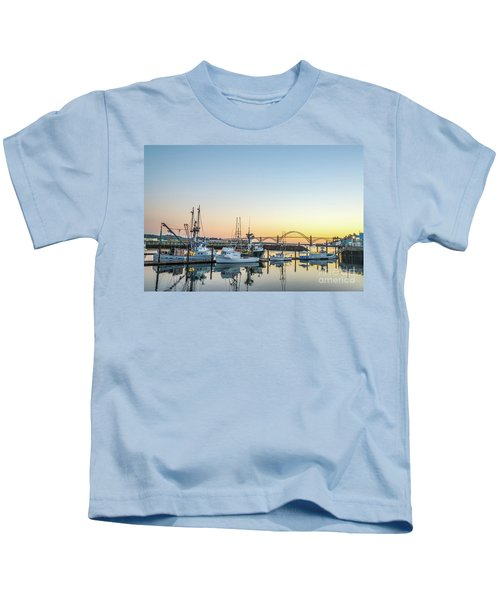 Tuna Boats Resting For The Night Kids T-Shirt
