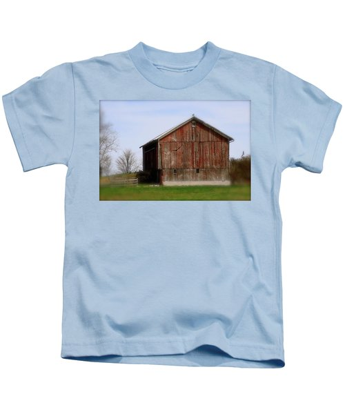 Turkey Vultures Hovering Around The Barn Kids T-Shirt