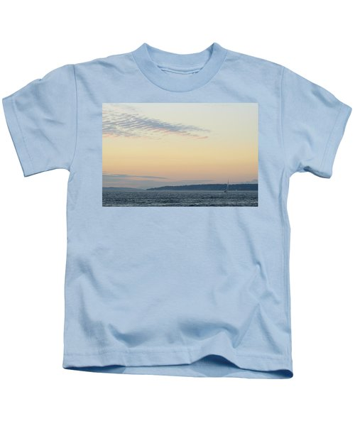 Twilight Moment In Puget Sound Kids T-Shirt