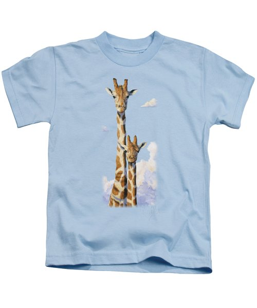 Two Heads In The Clouds Kids T-Shirt
