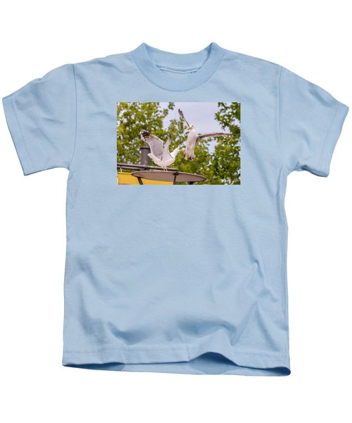 Two Seabird Fighting Kids T-Shirt