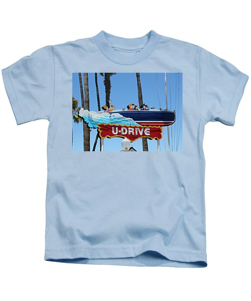 U-drive Boat Sign Kids T-Shirt