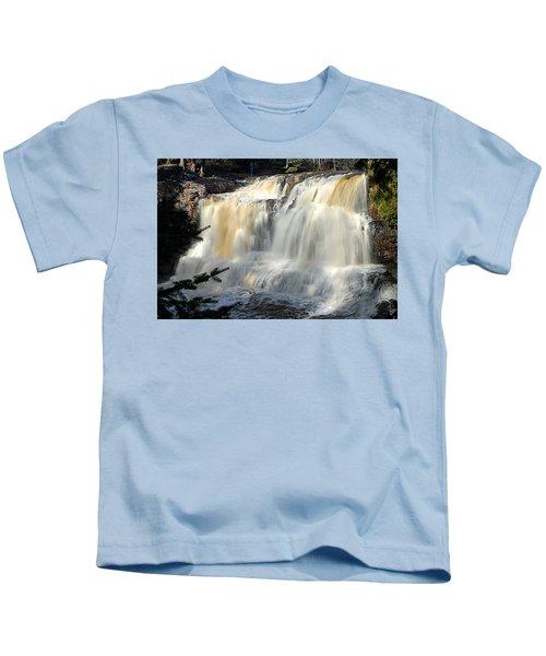 Upper Falls Gooseberry River Kids T-Shirt
