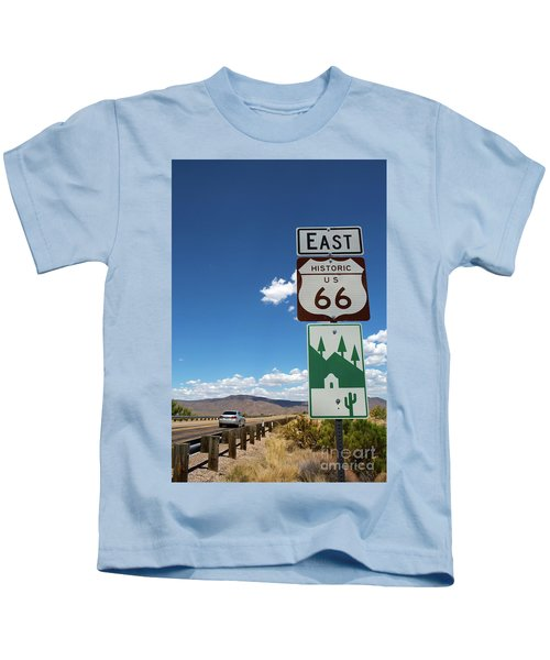Us Route 66 Sign Arizona Kids T-Shirt
