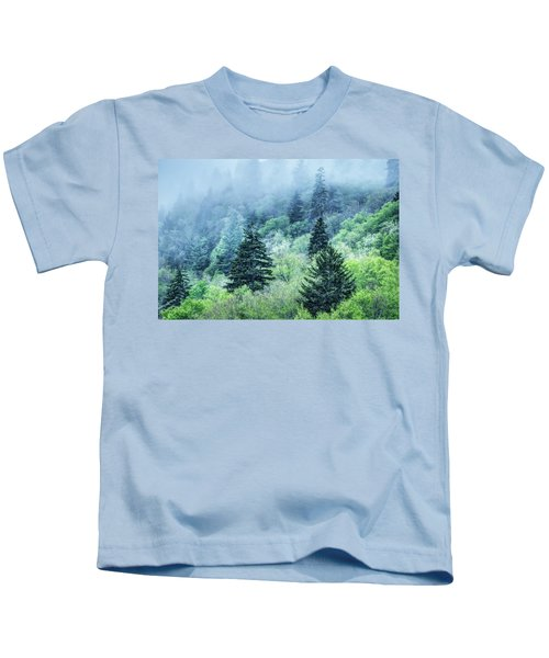 Verdant Forest In The Great Smoky Mountains Kids T-Shirt