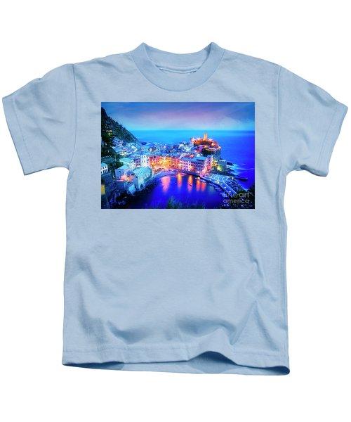Vernazza At Dusk Kids T-Shirt