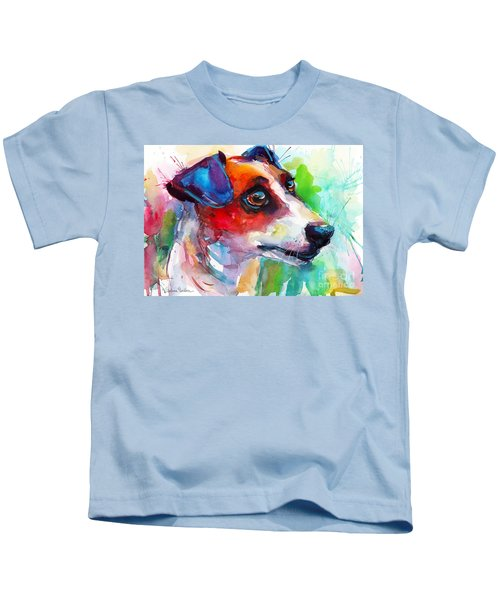 Vibrant Jack Russell Terrier Dog Kids T-Shirt