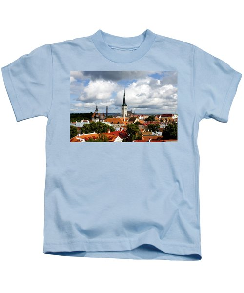 View Of St Olav's Church Kids T-Shirt