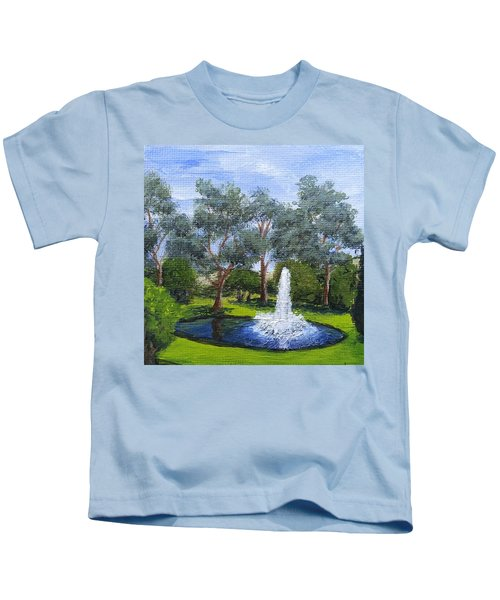 Village Fountain Kids T-Shirt