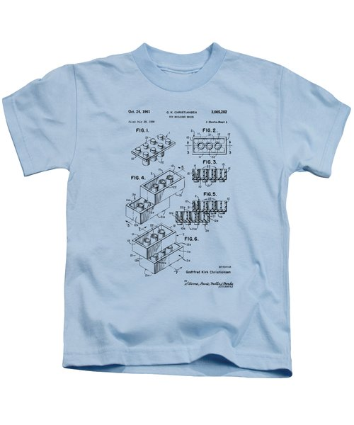 Vintage 1961 Toy Building Brick Patent Art Kids T-Shirt