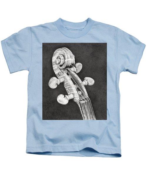 Violin Scroll Kids T-Shirt