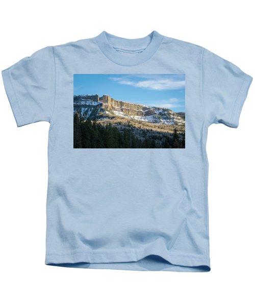 Volcanic Cliffs Of Wolf Creek Pass Kids T-Shirt