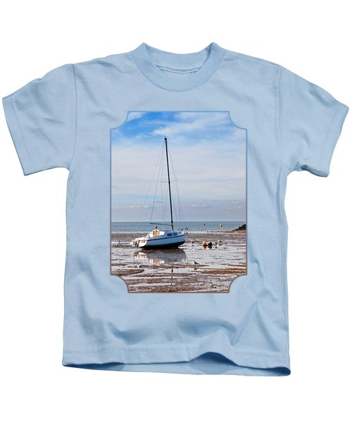 Waiting For High Tide Kids T-Shirt by Gill Billington