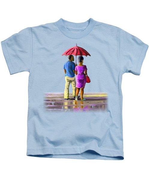 Walk In The Rain Kids T-Shirt